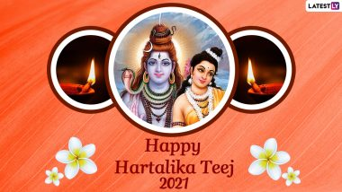 Happy Hartalika Teej 2021 Greetings & HD Images: WhatsApp Messages, SMS, Quotes, Facebook Status and Wallpapers To Wish on Shiva-Parvati Festival