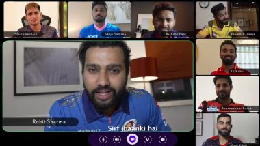 Virat Kohli, Rohit Sharma and Other Indian Stars Participate in 'Dream Call' Ahead of IPL 2021 Resumption (Watch Video)