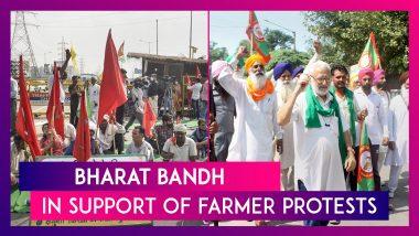 Bharat Bandh In Support Of Farmer Protests: YSRC, DMK, LDF Govts Back Shutdown, Congress To Join Samyukta Kisan Morcha To Mark Protest Anniversary