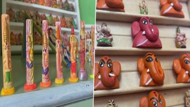 Ganesh Chaturthi 2021: Nashik Artisan Sanjay Carves Ganesh Idols on Nails (See Pics)
