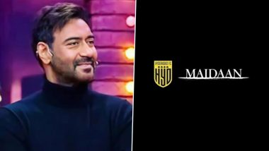 Maidaan: Ajay Devgn's Film Joins Hand With Hyderabad FC, Actor Shares the Untold Story Behind the Movie on Legendary Football Coach Syed Abdul Rahim (Watch Video)