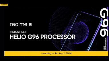Realme 8i With Helio G95 To Be Launched in India on September 9, 2021