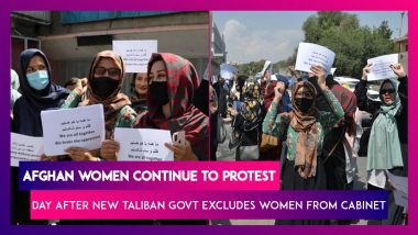 Afghan Women Continue To Protest Day After New Taliban Govt Excludes Women From Cabinet