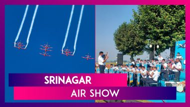 Srinagar Air Show: Su-30s, MiG-21s, Chinooks' Spectacular Air Show After 14 Years