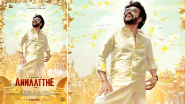 Annaatthe: Superstar Rajinikanth's First Look From the Film Unveiled on Ganesh Chaturthi, Film To Release in Diwali!