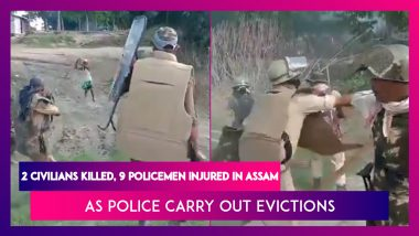 Assam: Police Carry Out Evictions, Two Civilians Killed, Nine Policemen Injured, Violence Caught On Camera