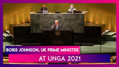 Boris Johnson, UK Prime Minister At UNGA 2021: Humanity Must Grow Up And Face Climate Change