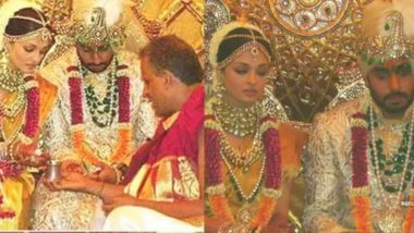 Abhishek Bachchan Says 'Photoshopped' After a Fan Shares a Pic From His and Aishwarya Rai's Wedding