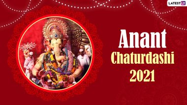 Anant Chaturdashi 2021 Date and Significance: Know Ganesh Visarjan Muhurat Time, Puja Vidhi, Significance and Celebrations of the Last Day of Ganeshotsav