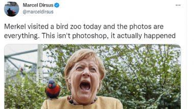 Angela Merkel at Bird Zoo Bitten by Australian Rainbow Lorikeet, Her Reaction Was Priceless (See Pics)