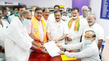 BJP Nominee S Selvaganapathy Elected to Rajya Sabha Seat from Puducherry without Contest
