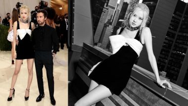 BLACKPINK's Rose Makes Impressive Met Gala Debut in Saint Laurent LBD, Becomes First K-Pop Idol To Attend 'Oscars of Fashion' (View Pics & Video)