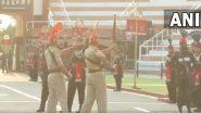 Beating Retreat Ceremony Resumes at Attari-Wagah Border in Punjab (Watch Video)