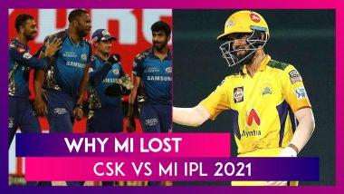 Chennai vs Mumbai IPL 2021: 3 Reasons Why Mumbai Lost