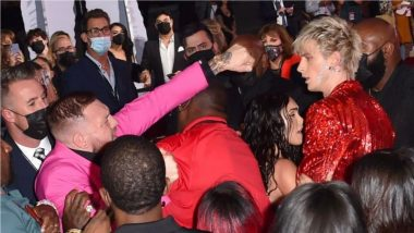 Video: Conor McGregor and Machine Gun Kelly Fight on VMAs Red Carpet 2021 After UFC Champ Was Allegedly DENIED a Photo by American Rapper!