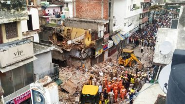 Delhi Sabzi Mandi Building Collapse: Two Children Killed, One Person Injured After Four-Storey Building Collapses Near Malka Ganj, Rescue Operations Underway
