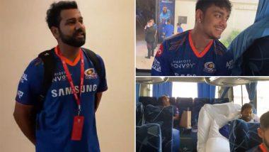 Mumbai Indians Leave For Dubai Cricket Stadium Ahead Of IPL 2021 Clash With CSK (Watch Video)