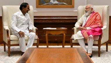 PM Narendra Modi Assures K Chandrasekhar Rao of Land Allotment for Construction of 'Telangana Bhavan' in Delhi