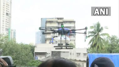 Drone Used by BMC To Carry Out Sanitisation Drive in Mumbai's Dhobi Ghat Area To Prevent Spread of Dengue, Malaria (See Pics)