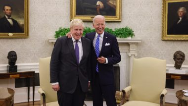 US President Joe Biden, UK PM Boris Johnson Stress Action on Climate Change, Advancing Cooperation in Afghanistan, Indo-Pacific on the Sidelines of 76th UNGA Meeting