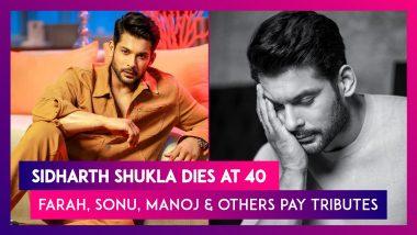 Sidharth Shukla Dies At 40; Farah Khan, Sonu Sood, Manoj Bajpayee & Others Pay Mourn The Loss Of The Bigg Boss 13 Winner