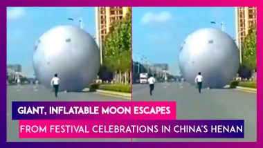 Giant, Inflatable Moon Escapes From Mid-Autumn Festival Celebrations, In China's Henan