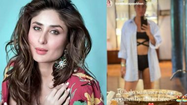 Kareena Kapoor Khan Is Happy on the Arrival of Fall 2021, Shares a Selfie Flaunting Her Hot Bod in a Black Bikini!
