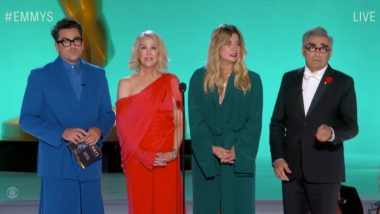 Emmys 2021: Schitt's Creek Cast's Reunion Grabs Limelight With Dan Levy, Eugene Levy and Others in Attendance (Watch Video)