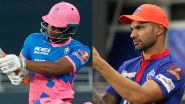 DC vs RR IPL 2021 Dream11 Team Selection: Recommended Players As Captain and Vice-Captain, Probable Line-up To Pick Your Fantasy XI
