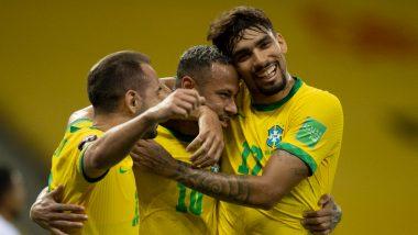 Brazil 2–0 Peru, FIFA World Cup 2022 CONMEBOL Qualifiers: Neymar on Target As Selecao Extend Unbeaten Run, Retain Top Spot in Points Table