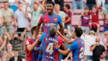 Barcelona 3–0 Levante, La Liga 2021–22: Ansu Fati Scores After Returning From Injury As Catalans Get Back to Winning Ways