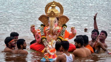 Ganesh Visarjan 2021 Slogans and WhatsApp Status Video: Wish Family and Friends on Anant Chaturdashi With These Greetings, Quotes and HD Images