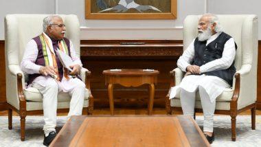 Haryana CM Manohar Lal Khattar Meets PM Narendra Modi, Discusses Farmer Issues, Karnal Incident