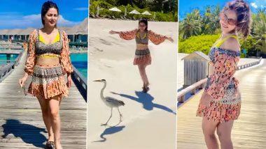 Hina Khan Posts 'Manike Mage Hithe' Instagram Reel, Grooving to Sinhalese Lyrics Holidaying in Maldives (Watch Video)