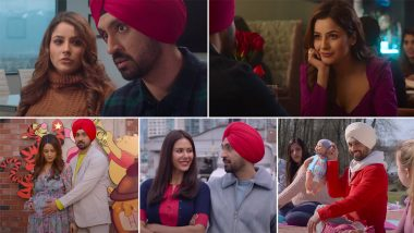 Honsla Rakh Trailer: Diljit Dosanjh, Shehnaaz Gill, Sonam Bajwa's Punjabi Film Is a Story About a Single Father That Also Promises Entertainment (Watch Video)