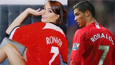 Hot Manchester United Fan Katrina Maria Wears Cristiano Ronaldo No 7 Jersey, Shares Raunchy Pics on Instagram