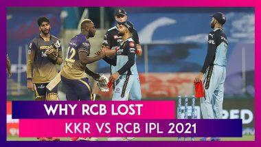 Kolkata vs Bangalore IPL 2021: 3 Reasons Why Bangalore Lost