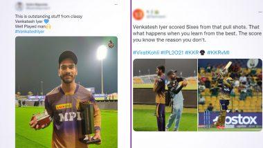 Venkatesh Iyer Draws Praises After KKR vs MI IPL 2021, Twitterati Laud Batsman For Remarkable Innings