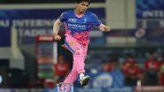 PBKS vs RR, IPL 2021 Stat Highlights: Karthik Tyagi's Last Over Heroics Leads Rajasthan Royals to a 2-Run Win