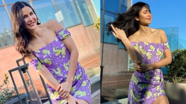 So Pretty! Katrina Kaif Dons The Chicest Off-Shoulder Floral Dress in Lilac, and The Photos Will Make You Want to Own One