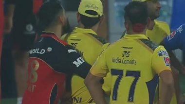 Virat Kohli Hugs MS Dhoni After RCB vs CSK IPL 2021 Match, Photo Goes Viral