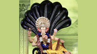 Lalbaugcha Raja 2021 Live Mukh Darshan & Aarti From Mumbai Day 8: Watch Live Streaming of Celebrations at Mumbai's Famous Pandal on Eighth Day of Ganeshotsav