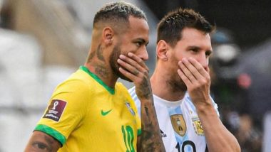 Brazil vs Argentina FIFA World Cup 2022 Qualifier Match Suspended After Health Authorities Try to Detain Argentine Players Mid-Game