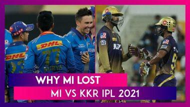 Mumbai vs Kolkata IPL 2021: 3 Reasons Why Mumbai Lost