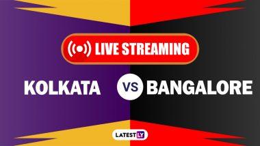 KKR vs RCB IPL 2021 Live Cricket Streaming: Watch Free Telecast of Kolkata Knight Riders vs Royal Challengers Bangalore on Star Sports and Disney+Hotstar Online