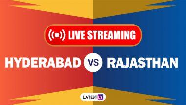 SRH vs RR, IPL 2021 Live Cricket Streaming: Watch Free Telecast of Sunrisers Hyderabad vs Rajasthan Royals on Star Sports and Disney+Hotstar Online