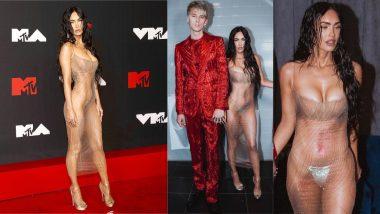 Megan Fox Leaves Nothing for Imagination in See-Through Mugler Dress, Sparkly Thong at VMAs 2021 Red Carpet
