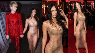 Megan Fox Stuns in Nakedest Dress With Beau Machine Gun Kelly by the Side on VMAs Red Carpet 2021, View Gorgeous Pics