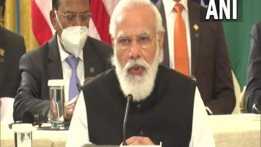 Quad Summit 2021: PM Narendra Modi Says 'Quad Vaccine Initiative Will Help People of Indo-Pacific Nations' (Watch Video)