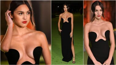 Olivia Rodrigo Stuns in Massive Cleavage-Revealing YSL Black Gown at Academy Museum of Motion Pictures Opening Gala